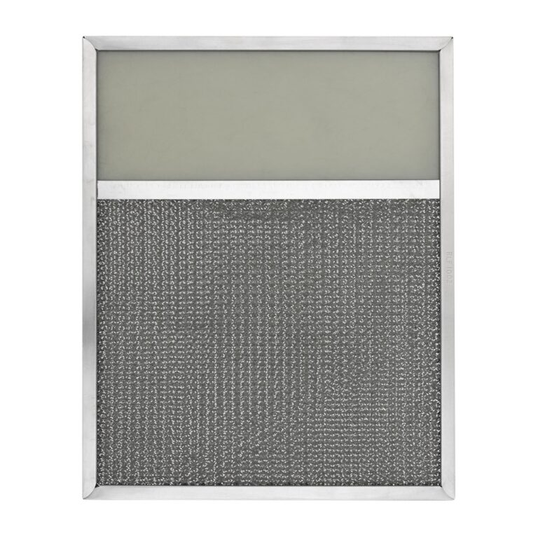 RLF1002 Aluminum Grease Filter with Light Lens for Ducted Range Hood | 4″ Lens