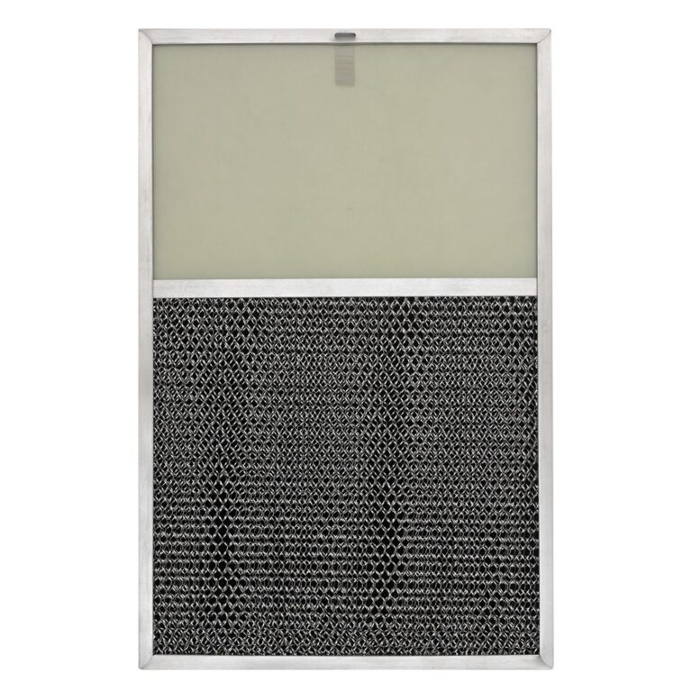 RLP1101 Aluminum/Carbon Grease and Odor Filter with Light Lens for Non-Ducted Range Hood   6-3/4″ Lens   with Pull Tab