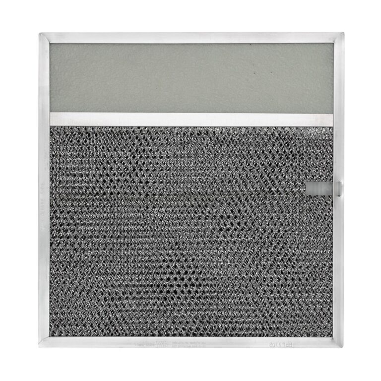 RLP1102 Aluminum/Carbon Grease and Odor Filter with Light Lens for Non-Ducted Range Hood | 3-1/4″ Lens | with Pull Tab