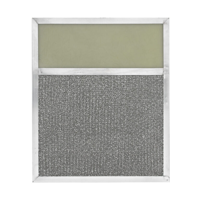 RLF1023 Aluminum Grease Filter with Light Lens for Ducted Range Hood   4″ Lens