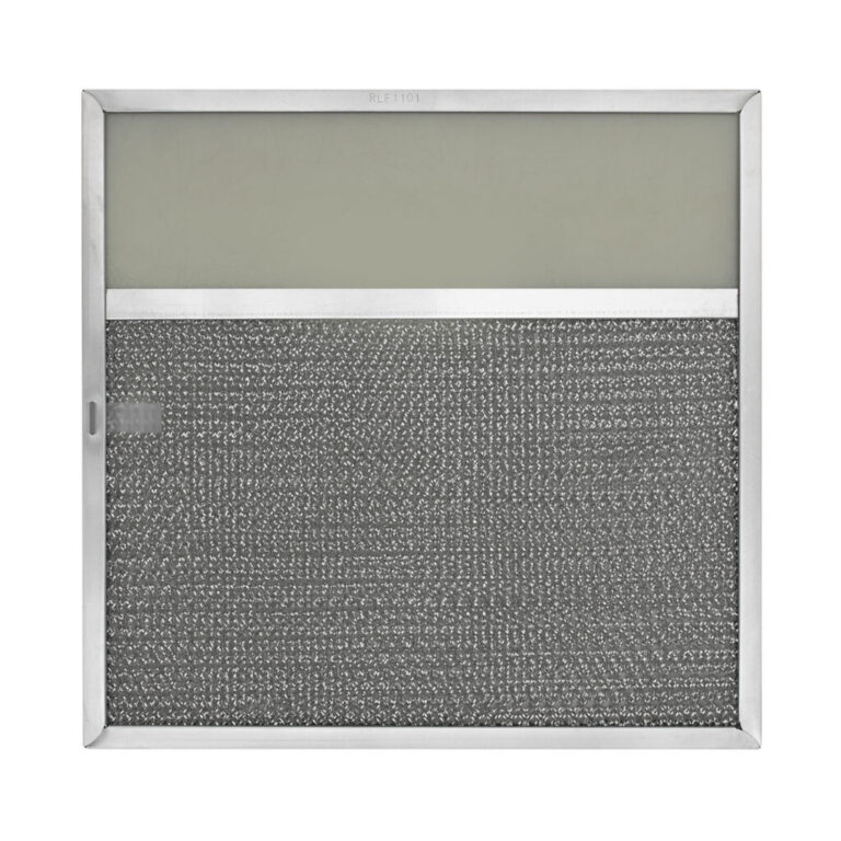 RLF1101 Aluminum Grease Filter with Light Lens for Ducted Range Hood | 3-1/2″ Lens | with Pull Tab