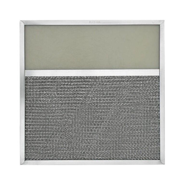 RLF1104 Aluminum Grease Filter with Light Lens for Ducted Range Hood | 4″ Lens