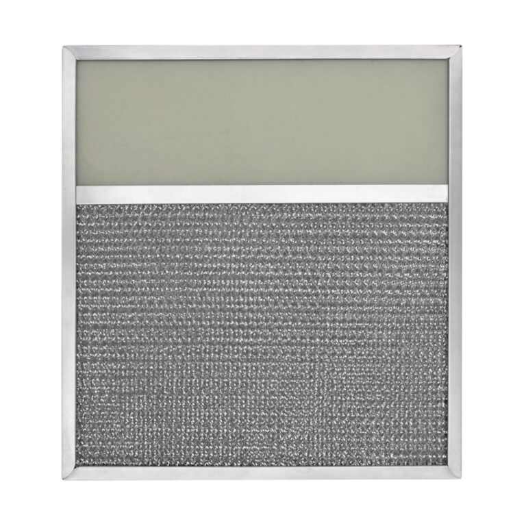 RLF1204 Aluminum Grease Filter with Light Lens for Ducted Range Hood   4″ Lens