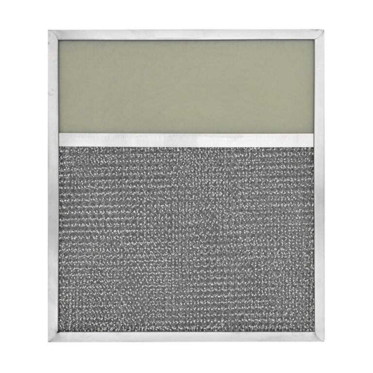 RLF1120 Aluminum Grease Filter with Light Lens for Ducted Range Hood   4″ Lens