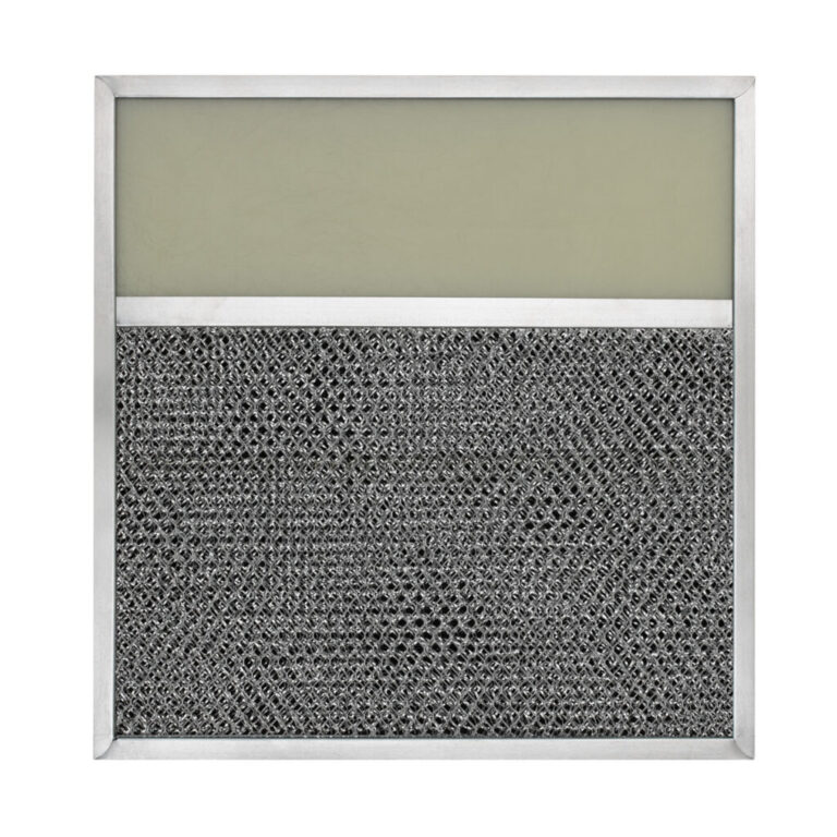 RLP1108 Aluminum/Carbon Grease and Odor Filter with Light Lens for Non-Ducted Range Hood | 4″ Lens