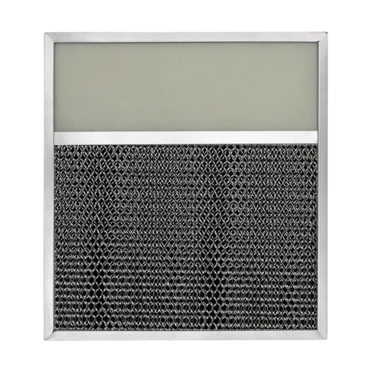RLP1201 Aluminum/Carbon Grease and Odor Filter with Light Lens for Non-Ducted Range Hood | 4″ Lens